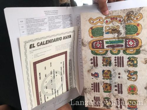 Calendario maya y certificado