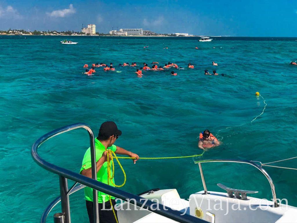 Actividad turística de Buceo en Isla mujeres