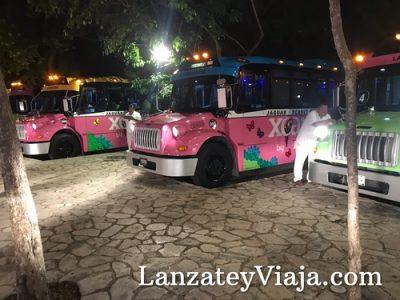 En la noche, los buses esperan